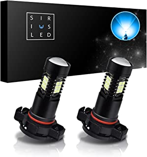 SiriusLED 5202 2504 Ice Blue Color LED Fog Light DRL Projector lens Super Bright Plug and Play Aluminum Body Pack of 2