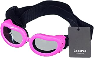 COCOPET [New Version Adorable Dog Goggles Pet Sunglasses Eye Wear UV Protection Waterproof Sunglasses for Puppy Dogs Small Medium XS
