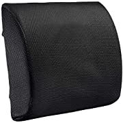 Lumbar Pillow Back Pain Support - Seat Cushion for Car or Office Chair | Memory Foam, Lower Back Pain Relief, Improve Your Posture, Protect & Soothe Your Back| Adjustable Extender Strap, 3D Mesh