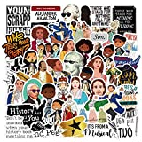 Hamilton Musical Stickers 50PCS Waterproof Vinyl Sticker for Laptop, Water Bottles, Guitar, Skateboard Durable Trendy Graffiti Decal Artistic Decoration for Luggage, Snowboard, Bicycle, Phone