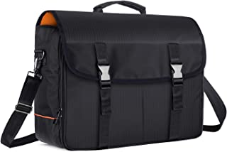 CURMIO Bartender Kit Travel Bag with Padded Compartments for Wine Bottles, Messenger Bag for Bar Tools Set, Perfect for Home Indoor Outdoor Patio Party, Black (BAG ONLY)