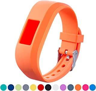 for Garmin Vivofit JR Replacement Strap - Feskio Accessory Soft Silicone Metal Clasp Buckle Wrist Strap Watch Band Bracelet for Garmin Vivofit Jr. Motivator and Activity Tracker Junior Kids Fitness
