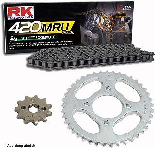 Juego de cadenas adecuado para Honda Z 125 Monkey 18-19 cadena RK 420 MRU 98 abierto 15/34