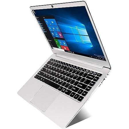 Laptop de 14 Pulgadas (Intel N3060 N3350 de 64 bits, 4GB DDR3 RAM, eMMC de 64GB, batería de 10000mAH, cámara Web HD, Windows 10, Pantalla 1366 * 768 FHD IPS)