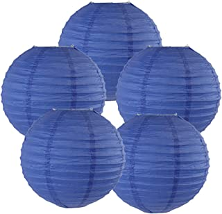 Just Artifacts 8-Inch Royal Blue Chinese Japanese Paper Lanterns (Set of 5) - Click for More Chinese/Japanese Paper Lantern Colors & Sizes!