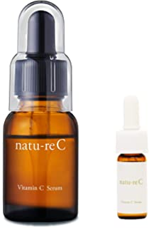 natu-reC(ナチュールシー) ビタミンC美容液 [ピュアビタミンC配合] くすみ 乾燥 (30日分 18ml) 日本製 美容液 [トラベルサイズ付き]