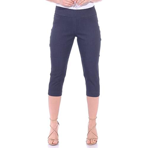 b.s Damen Stretch Capri Bermuda Jeans Hose