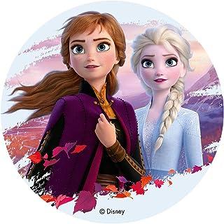 Dekora-114383 Decoracion Tartas de Cumpleaños Infantiles En Disco de Oblea de Frozen Ii-Elsa Y Anna, multicolor, Talla Única (114383)