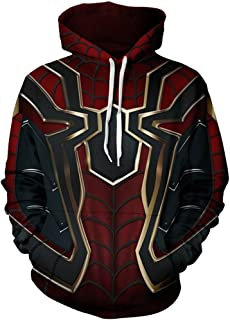 Superhero Halloween Cosplay Costume Mens Hoodie Jacket