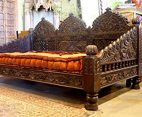 Jhula Carved Day Bed by Worldcraft Industries (88x44x36)