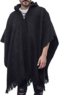 Gamboa Poncho for Men Comfortable Home Clothes for Men House Coat Men Wool Alpaca Poncho Hooded