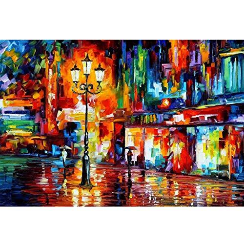Piscina  Autumn Street Scene 300/500/1000 Pieza de Cartón Adulto Jigsaw, DIY Juguetes creativos Diversión Juego de Familia para niños AE96 QW Store (Color : C, Size : 1000PC)