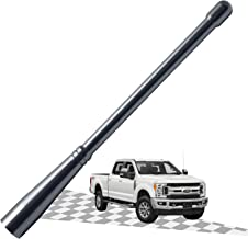 3.2 Inches Carbon/Black Optimized AM//FM Reception with Tough Material Elitezip Antenna Compatible with Ford F-350 2011-2018