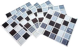 il soffitto Adesivi da parete autoadesivi a mosaico per decorare la casa la parete 5 x 5 mm QPY il bagno 1464 pezzi creativi fai da te in vetro per piastrelle a specchio