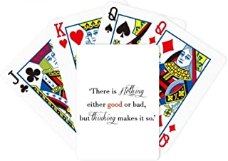 There Is Nothing Good Or Bad Poker Playing Magic Card Fun Board Game