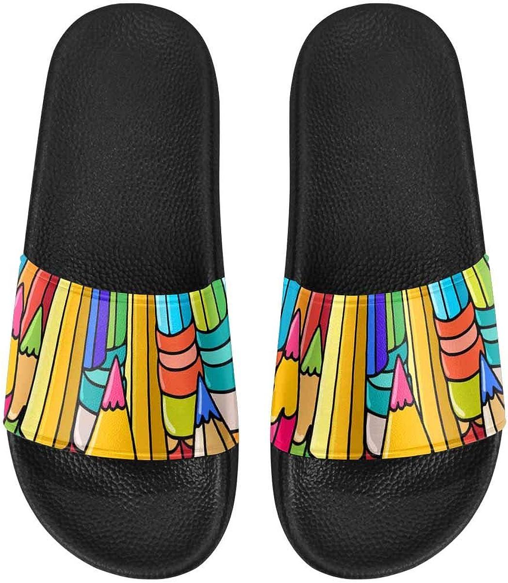 InterestPrint Slide Sandals for Women to Beach or Poor Image in Pop Art Style
