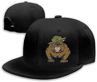 Anotolate Noe Marine Corps Bulldog USMC Logo Adjustable Flat Bill Snapback Baseball Hip-hop Cap Hat