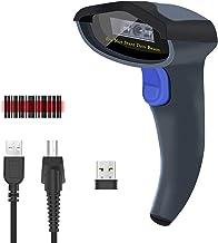 NETUM Lector de Códigos de Barras Inalámbrico CCD, Escáner de Códigos 1D para Inalmábrico a 2.4GHz y con Cable USB 2.0
