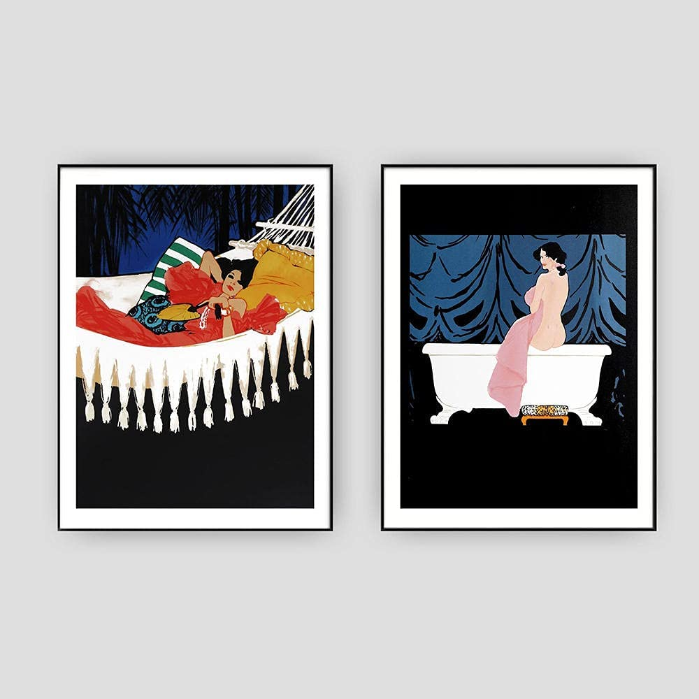 Recommended vbewuvbiewv Poster and Prints Bathroom Canvas NEW Nordic Paint Style