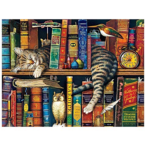 BSOA 1000 Piece Puzzles for Adults - The Cats of Charles Wysocki Jigsaw Puzzle for Adults Teenagers Artwork Intellective Educational Toy