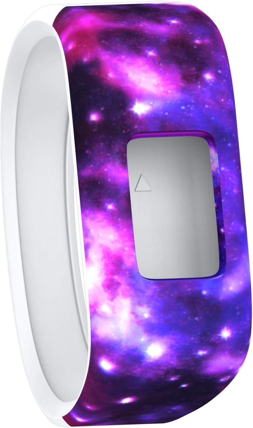 T Tersely Replacement Band Strap for Garmin Vivofit 3 / JR/JR 2, Soft Silicone Rubber Wrist Strap Watch Band Bracelet for VIVOFIT 3 JR Junior 2 1 Kids Fitness Tracker - Galaxy