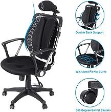 Rosmarus Ergonomic Office Chair Task Executive Height Adjustable Headrest Armrest and Lumbar Support High Back Mesh Computer Home Swivel Chair (Black)