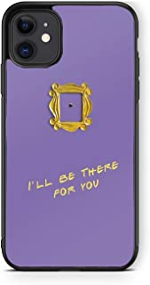 XUNQIAN iPhone 11 Case, Friends Show Purple Door Gold Frame Artistic Thin Soft Black TPU +Tempered Mirror Material Protect...