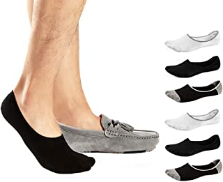 RedMaple, 6 Pares Calcetines Invisibles para Hombres y Mujeres Corte bajo No Show Calcetines Antideslizantes para Verano Otoño