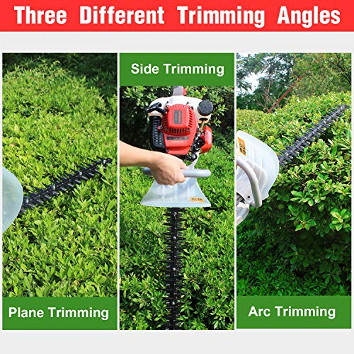 HUYOSEN Cordless Hedge Trimmer, 25CC 23-Inch 2-Cycle Gas Powered Hedge Trimmers Dual Sided Bush Trimmer for Garden and Lawn Care