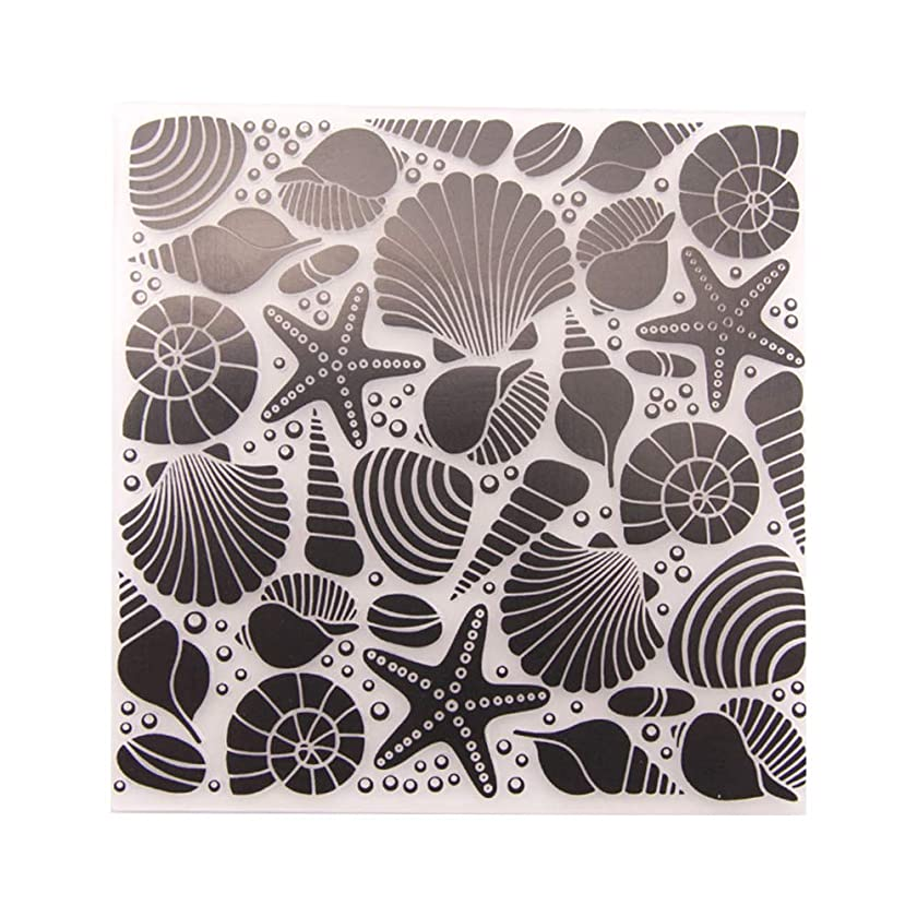 SUPVOX DIY Cutting Dies Template Stencil Nautical Sea Shell Star Plastic Embossing Folder for Scrapbook Paper Crafting Photo Album Card