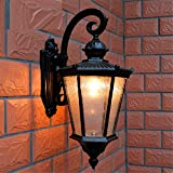 Avanthika E27 Wall Sconces Pineapple Outdoor Waterproof Patio Garden Villa Terrace, Black Wall Lights