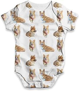 Infant Baby Bodysuit Welsh Corgis Pattern