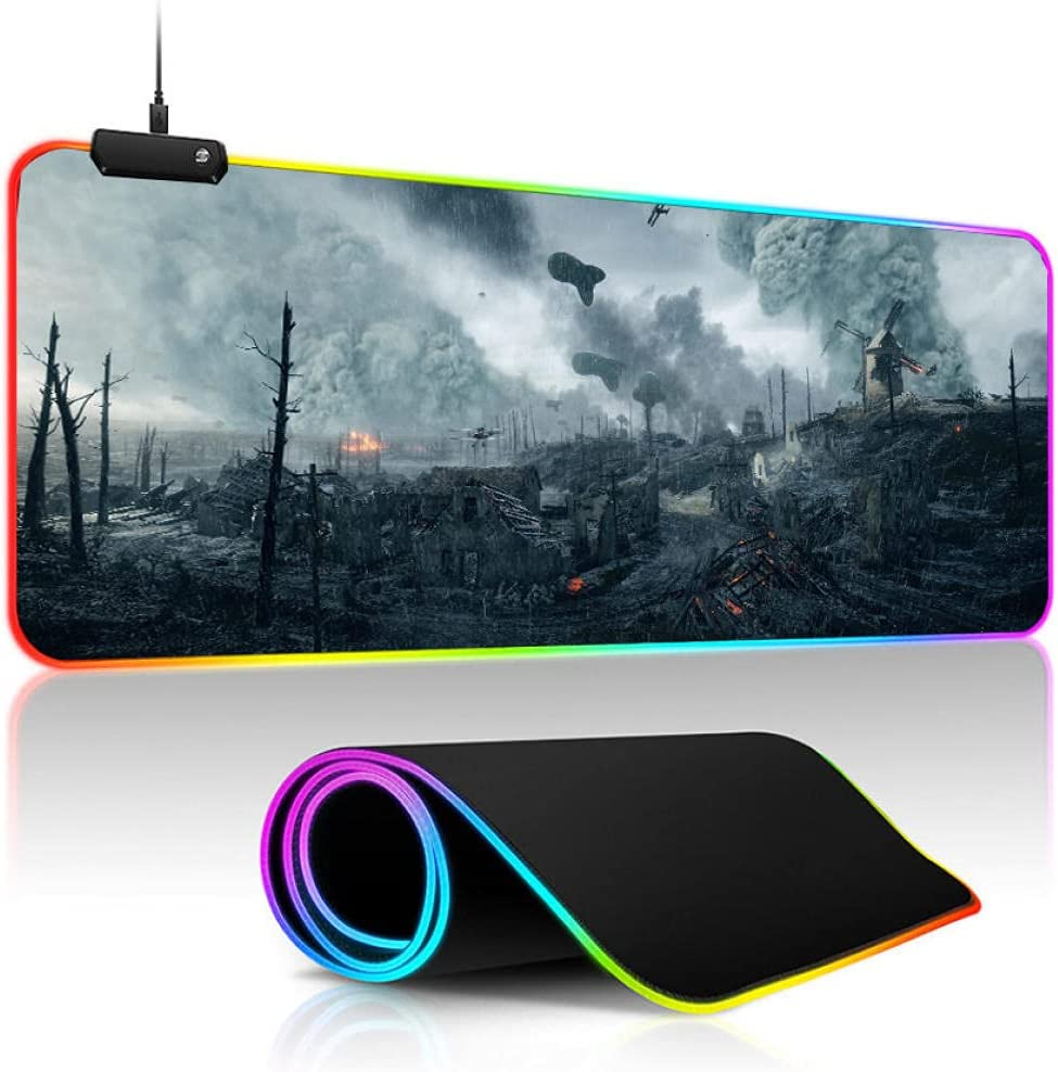 Ranking TOP14 RGB Gaming Mouse Max 46% OFF Pad pad Battle Game Anime