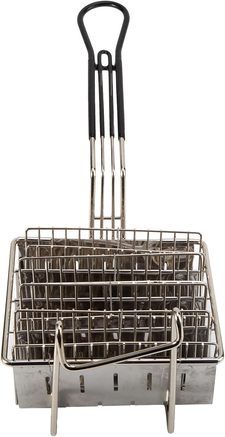 Ruiqas Taco - Cesta para freidora con 6 ranuras para taco con mango de agarre para cocina y freidora