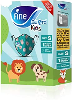 Fine Guard Kids Face Mask, Reusable face mask with virus-killing, antiviral Livinguard Technology, – Green Limited Edition...