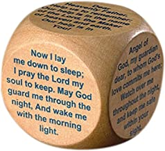 PLC 1 1/2 Inch Wood Childrens Kids Sunday School Church Bedtime Prayers Cube