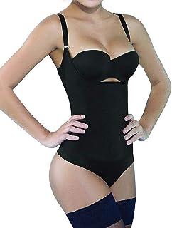 8b24a318c94b9 SHAPERX Women Seamless Firm Control Shapewear Faja Open Bust Bodysuit Body  Shaper