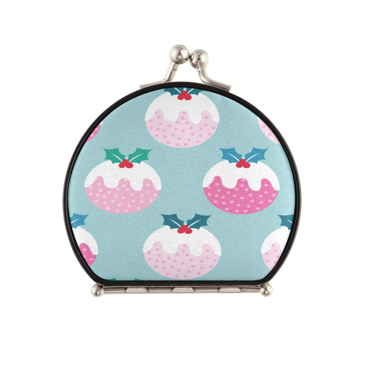Magnifying Year-end gift Compact Cosmetic All items in the store Mirror Cute C Pudding Christmas Pink
