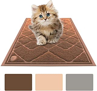 Oeyal Cat Litter Mat Premium Traps Litter from Box and Paws, Scatter Control, Soft on Sensitive Kitty Paws, Easy to Clean ...