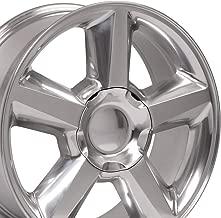 OE Wheels 22 Inch Fit Chevy Silverado Tahoe GMC Sierra Yukon Cadillac Escalade CV83 Polished 22x9 Rims Hollander 5308 SET
