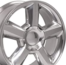 OE Wheels 20 Inch Fits Chevy Silverado Tahoe GMC Sierra Yukon Cadillac Escalade CV83 20x8.5 Rims Polished SET