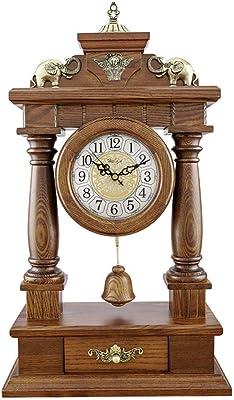 Reloj De Mesa Retro Reloj de mesa escritorio de madera retro del ...