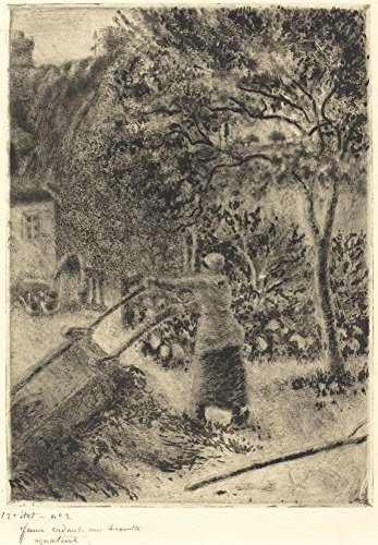 Het Museum Outlet - Vrouw Legen een Kruiwagen, 1880 - Canvas Print Online Kopen (60 X 80 Inch)