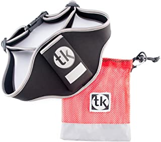 Microphone vertical WAIST carrier adjustable sweat absorbent Neoprene mic belt TK with FREE BONUS mesh carry bag, perfect for fitness/spin/yoga/pilates teachers