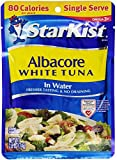 StarKist Albacore White Tuna in Water, 2.6-Ounce Pouch (Pack of 6)