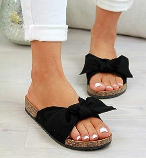 B/H Hommes Été Bain Sandales Intérieur,Pantoufles à nœud de Grande Taille Femmes, Chaussures de Plage décontractées à Fond...