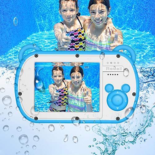 GordVE wasserdichte Kamera für Kinder, HD 1080P Digitale Videokamera für Kinder Unterwasserkamera Mini Digitalkamera mit 8 fachem Zoom Geeignet für Kinder von 2 bis 12 Jahren