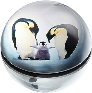 هانور كريستال البطريق ورقة الوزن الزجاج نصف الكرة الكرة الأرضية الصحافة الديكور الإبداعي