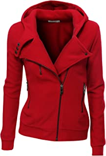 Fleece Zip-Up High Neck Jacket for Women with Plus Size