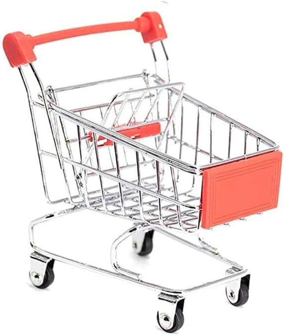 Selling Yowinlo 3Pcs Mini Rare Supermarket Metal Handcart Cart Shopping